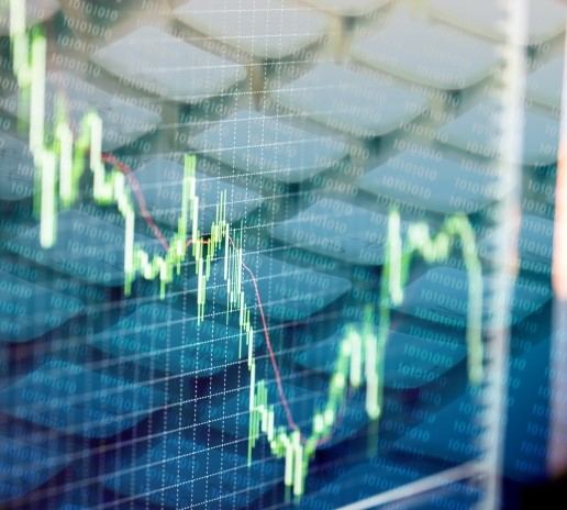 乱高下する株価のグラフ